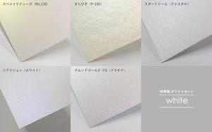 ホワイトセット[100枚 名刺サイズ 片面印刷]