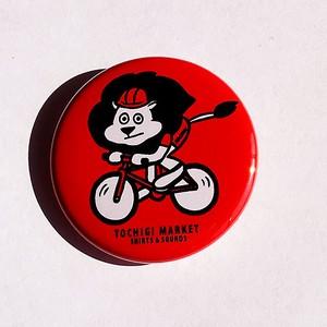 缶バッジ 38mm ZOO ロードバイク ライオン