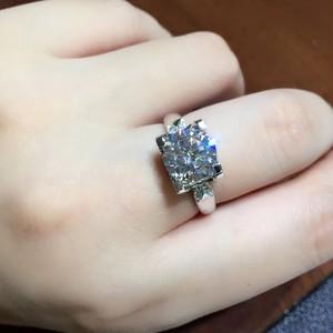 モアサナイト ダイヤモンド 2カラット 18k リング 指輪 婚約指輪