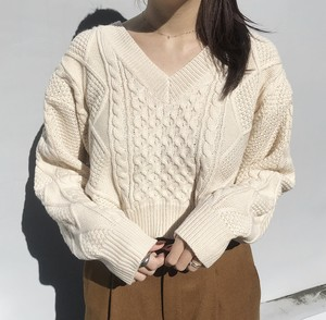Cable short Knit(オフホワイト)