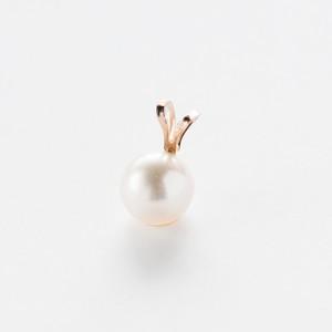 K10*アコヤ真珠のひとつぶネックレスチャーム(ペンダントトップ)