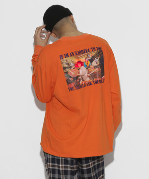 Your self Long sleeve T-shirt [Orange]