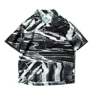 TIGHTBOOTH  NOISE SHIRT BLACK×WHITE タイトブース シャツ
