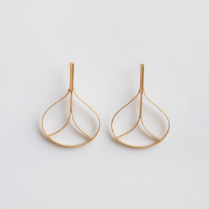 """""""Fan"""" Bamboo stud earrings /size: S"""
