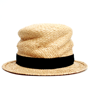 [curione] twiddle silk raffia hat