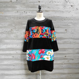 WIDE BORDER VELOR TOPS◆COLORFUL1