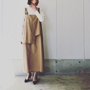 アシンメトリーデザインオーバースカート