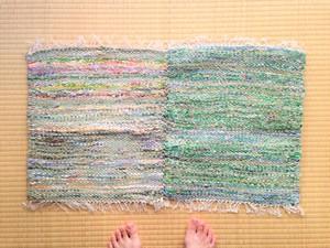 裂き織りマット(2連)C