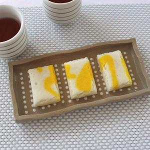 豆絞り紋焼物皿