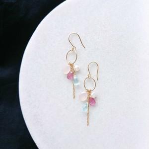 Blue topaz & Pink sapphire