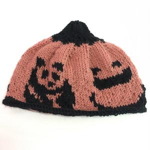 ゑでぃの手編みニット帽 パンダ