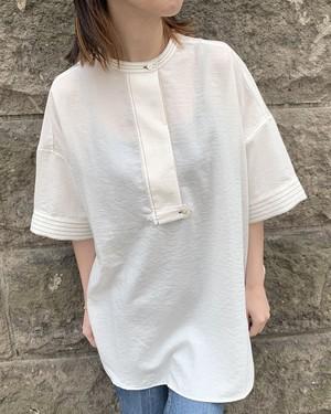 ステッチポイントスキッパーシャツ[Colorホワイト][フリーサイズ]