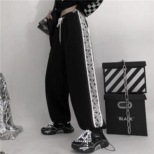 【ボトムス】ファッション配色ストリート系ボウタイカジュアルパンツ35125768