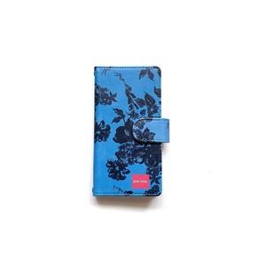 北欧デザイン iPhone手帳型ケース  | stella blue