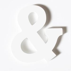 """【販売】 木製アルファベット """"&"""""""