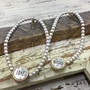 Metal Beads Message Bracelet (CB1065-66)