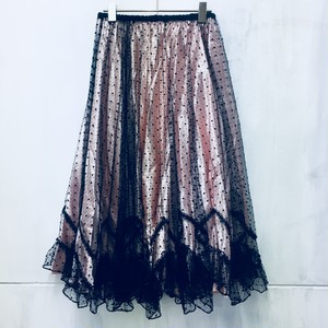 antique lace circular skirt