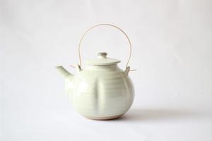 江戸元禄期 大堀相馬焼 瓜型土瓶 (白)