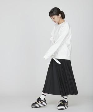 【予約】アシンメトリープリーツスカート(ブラック)