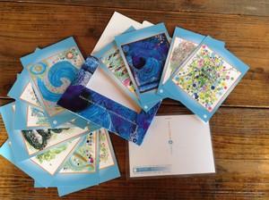 白雲友子 ポストカード・セット(特製ケース入り) 「宇宙からの聖言集」12枚入り