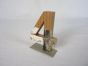 切り文字 4  (木のパッチワーク)