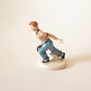 Ceramic Bowling Boy・陶器のボーリングボーイ U.S.A