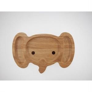 キッズプレート*ゾウ*木製食器*子供食事*ナチュラル自然