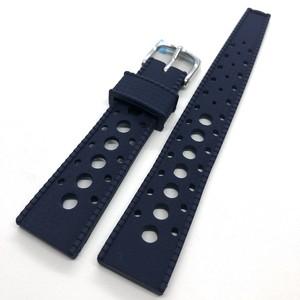 ヴィンテージ トロピック スキンダイバーバンド 復刻ラバーベルト ネイビーブルー 20mm 腕時計ベルト