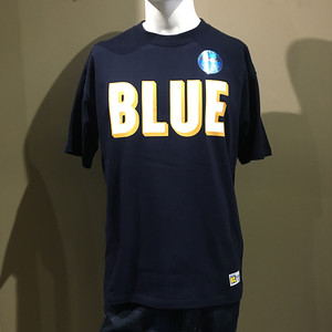 RUSSELL・BLUEBLUE 3D ロゴ プリント Tシャツ NAVY