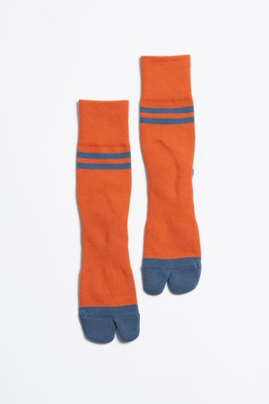 '90s Line Socks(Autumn Orange × Road Blue)
