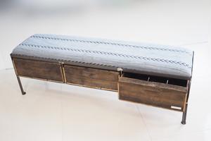 品番UAG3-101  3drawer ottoman[nerrow/African グレー batik tribal]