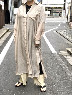 【DUST AND ROCKS】Sheer Shirt-Onepiece
