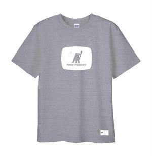 NMBE WEEK Tシャツ / グレイxホワイト