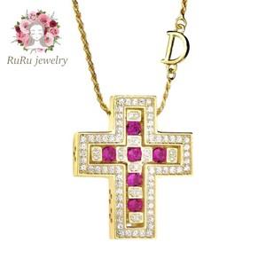s925 D-chain cross(necklace)
