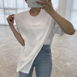 【トップス】シンプル無地ラウンドネックTシャツ47902873