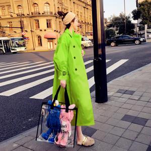 【アウター】ファッションソリッドカラートレンチコート34159196