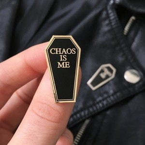 LIFE CLUB''Chaos Is Me' Hard Enamel Pin