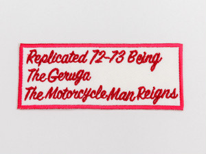 CUSTOM WAPPEN-THE MOTOR CYCLE MAN REIGNS- (IVORY) / GERUGA