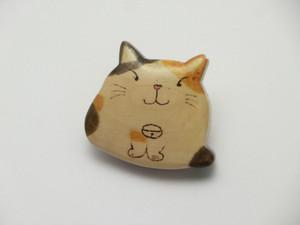 桂の猫ブローチ B1220