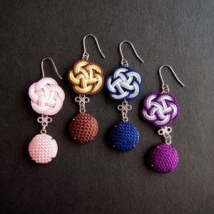 "Japanese Kumihimo(Braided cords)  earrings ""Four Seasons"" TYPE A"