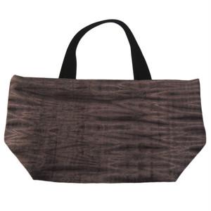 40%OFF<ブラウン×ブルー> トートバッグ×有松絞り 日本の伝統工芸を使った表地とビビッドカラー帆布の組み合わせ