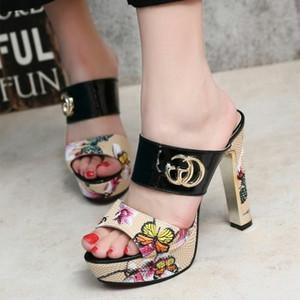 【shoes】サンダルセクシーエレガントチャンキーヒールファッション全3色