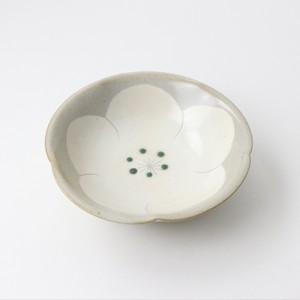 【SL-0057】陶器 15cm 鉢 白梅