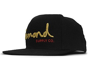 Diamond SUPPLY CO.  O.G SCRIPT SNAPBACK BLK-GOLD