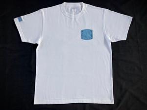 藍染めポケットTシャツ