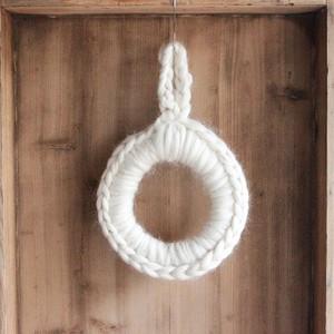 【手作り用】ウールで編んだクリスマスリースの土台