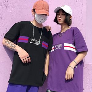 【トップス】韓国系原宿ラウンドネックアルファベット半袖Tシャツ26705848