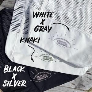 mesh  bag《 white × gray 》