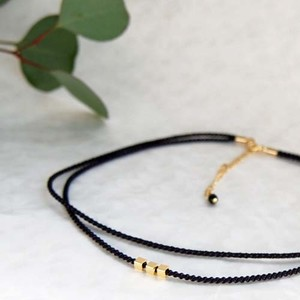 ◍choker necklace(black)