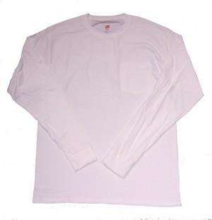 HANES L/S Pocket T-Shirt